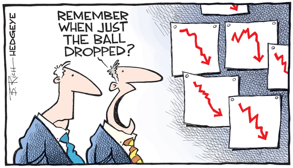 Cartoon of the Day: A (Not So) Happy New Year For Old Wall - ball drop cartoon 12.31.2015
