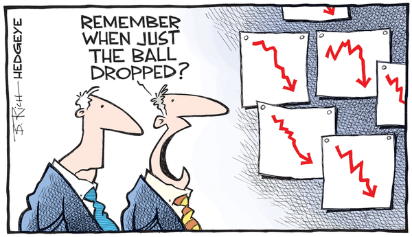 Here's the REAL Picture Behind Today's Jobs Report - ball drop cartoon 12.31.2015