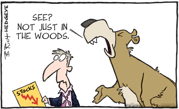 Shellacked: A Recap of Last Week's Market Action  - stocks. bear in the woods 01.06.2016