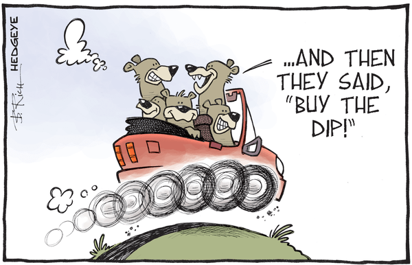 Investing Ideas Newsletter - bears in car cartoon 01.21.2016