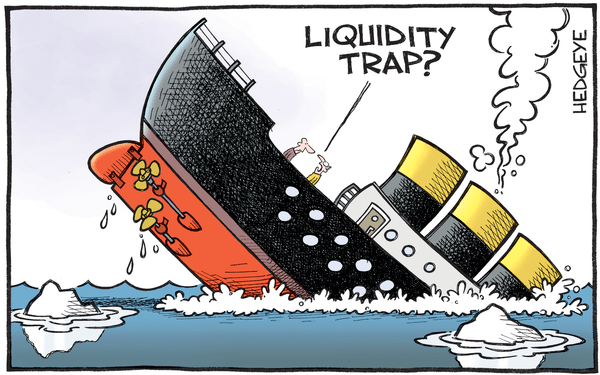 Cartoon of the Day: A Sinking Ship? - liquidity trap cartoon 01.25.2016