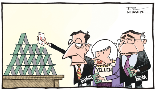 5 Hilarious Central Planning Cartoons - central banker house of cards