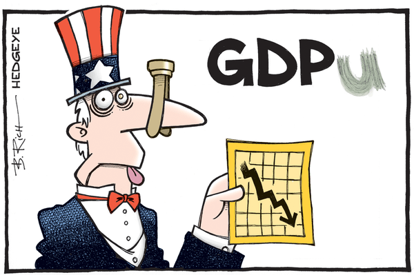 BREAKING: Hedgeye Macro Team Nails U.S. GDP (Again). Consensus? Not So Much - GDP cartoon 05.29.2015