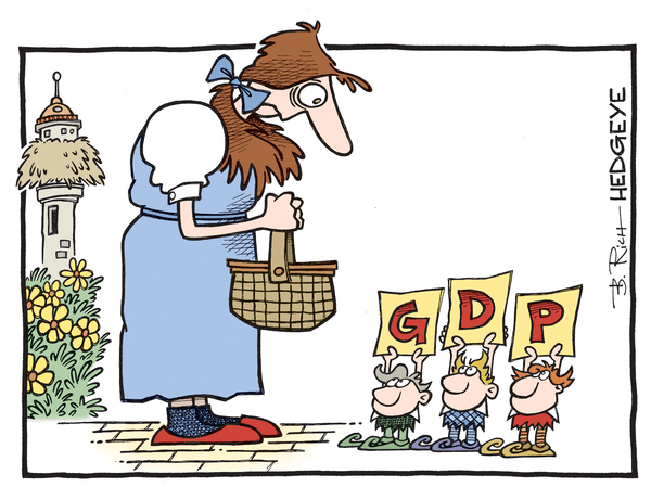 Cartoon of the Day: Welcome To Munchkinland - GDP cartoon 01.29.2016