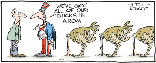 Cartoon of the Day: Head In The Sand - Fed ducks in a row