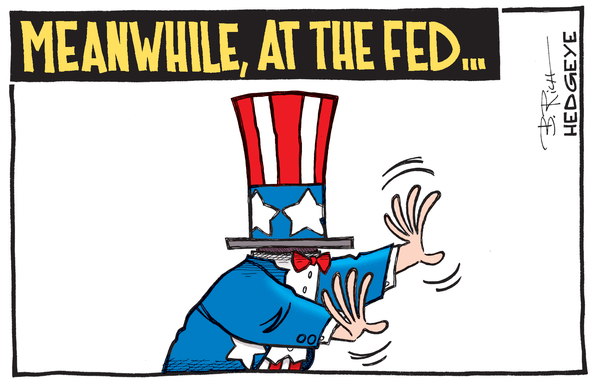 "BREAKING: Yellen Says Deflation Is ""Transitory"" & Growth Isn't Slowing. We Disagree - Fed grasping cartoon 01.14.2015"