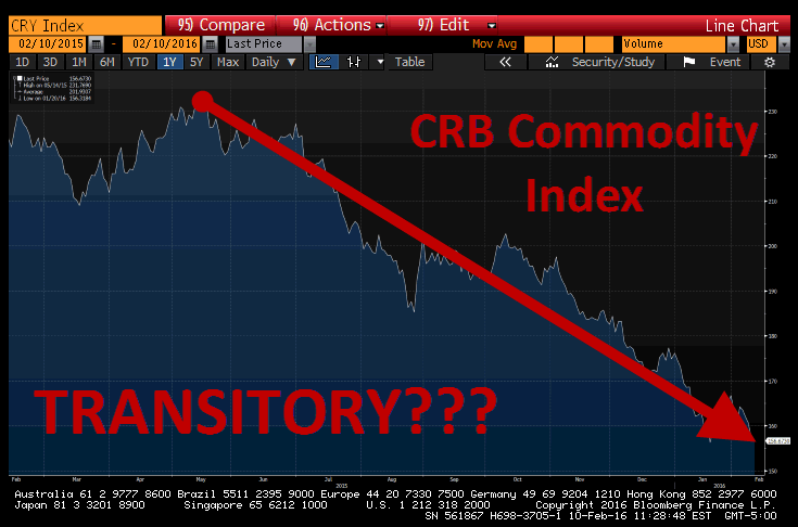 "BREAKING: Yellen Says Deflation Is ""Transitory"" & Growth Isn't Slowing. We Disagree - crb commod index"