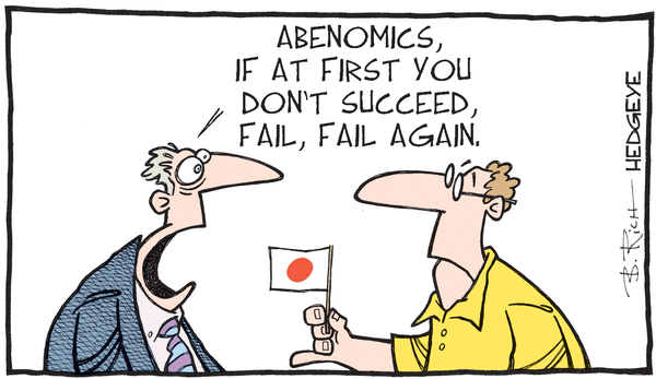Cartoon of the Day: Rising Or Setting? - Abenomics cartoon 02.10.2016