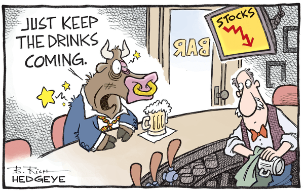 Markets Are Crashing And Wall Street Should Be Ashamed - bull drinking 01.08.2016