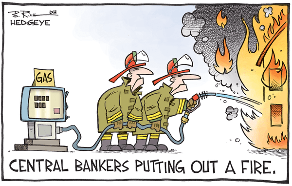 Soothing The Beast - central bankers cartoon 09.08.2015