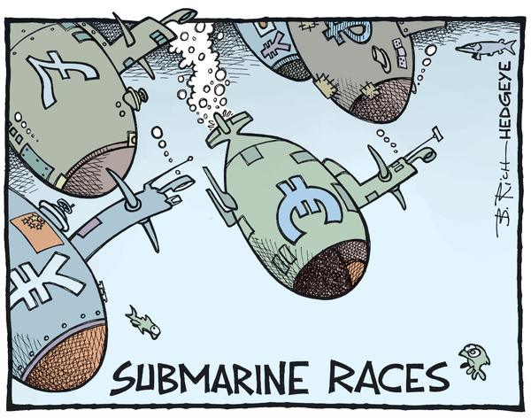 INSTANT INSIGHT | Central Planning, Currency Wars, & European Stocks - Currency wars cartoon 08.12.2015
