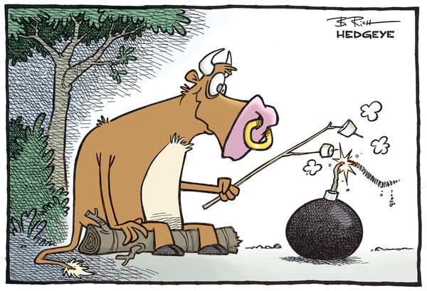 "Why Investors Should Short Today's Market ""Bounce"" - Bull bomb cartoon 09.01.2015"