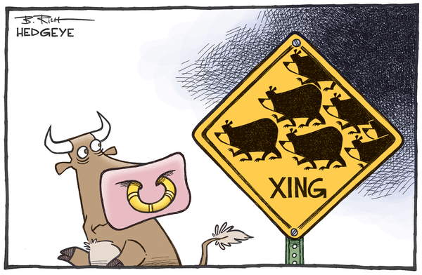 Will Markets Crash (again)? - Bear crossing cartoon 09.29.2015