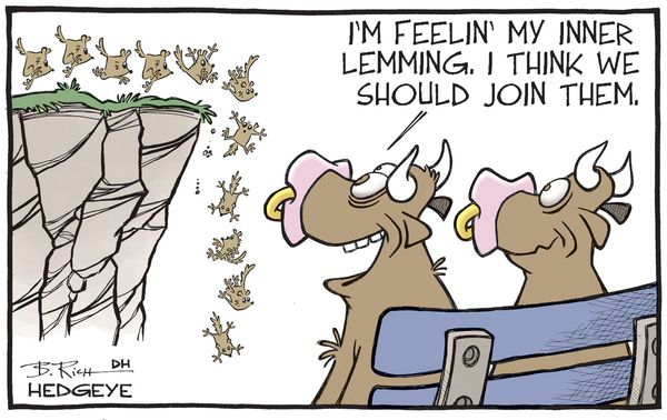 Cartoon of the Day: Cliff Dive - lemmings cartoon 02.23.2016
