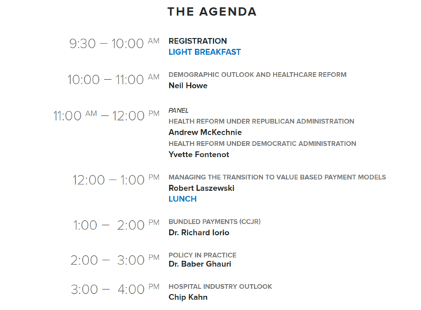 INVITATION AND AGENDA TO HEDGEYE-POTOMAC SPRING HEALTH POLICY CONFERENCE - 20160321 Agenda