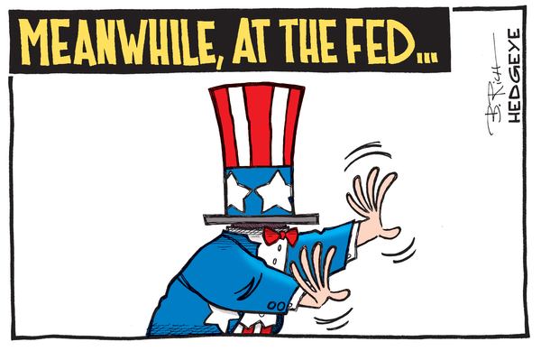Fork-Tongued Fed Needs To Get Its Story Straight - Fed grasping cartoon 01.14.2015