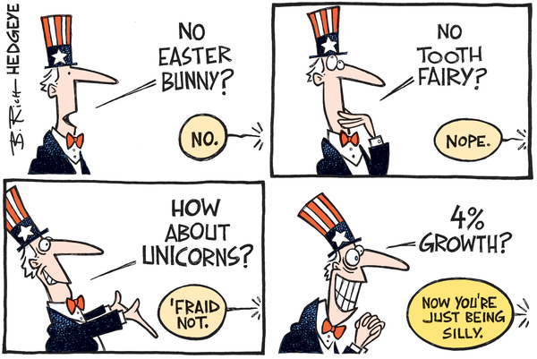Us Versus Them (What We Think About US GDP) - 4  growth cartoon 03.02.2016