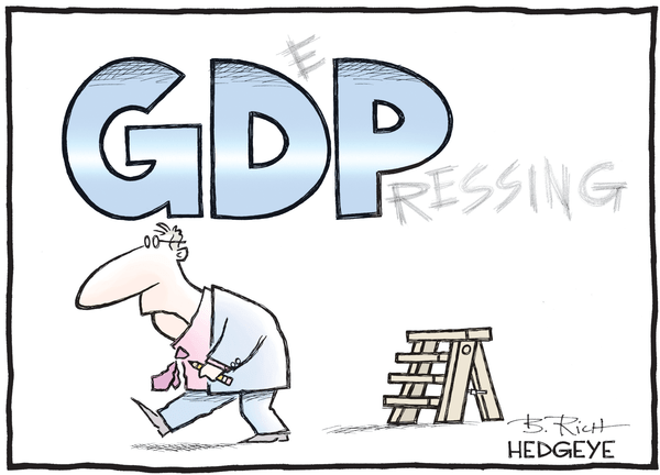 This Week In Hedgeye Cartoons - GDP cartoon 04.11.2016