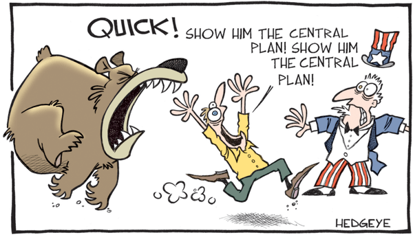 The Central Planning #BeliefSystem Continues To Break Down - bear cartoon 01.26.2016