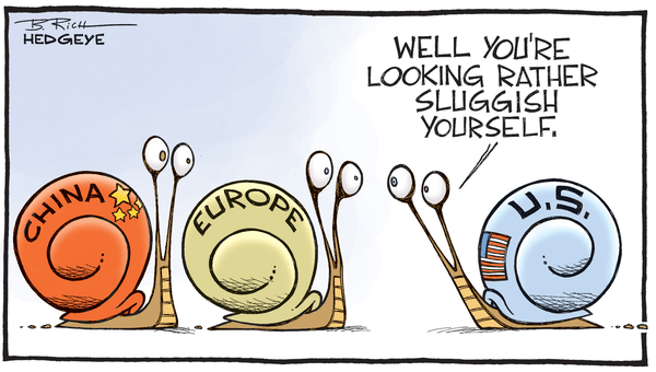 Slow Global Growth Snails - Slow growth snails cartoon 07.14.2015