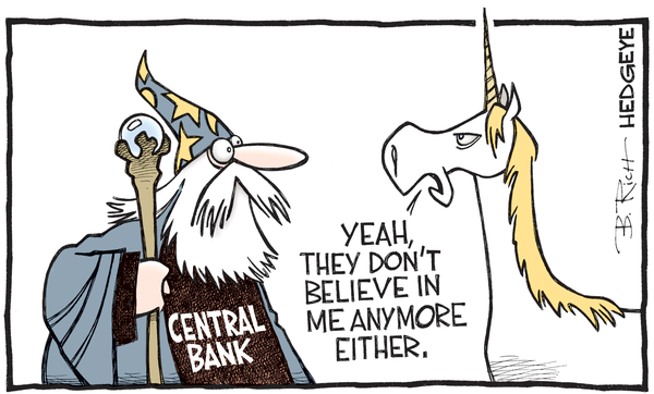 Cartoon of the Day: Just Believe - central bank cartoon 04.22.2016