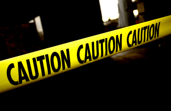 Reflation Reversal Risk Is Growing - caution tape