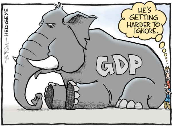 Cartoon of the Day: The Elephant In The Room - GDP cartoon 04.26.2016