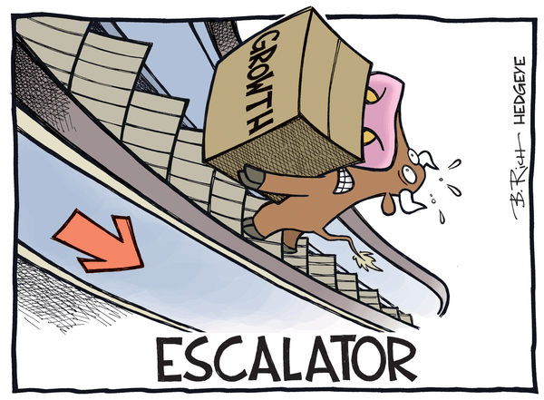 Cartoon of the Day: A Look At U.S. Economic Growth - growth escalator cartoon 04.29.2016