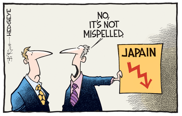 Cartoon of the Day: Tough Times In Tokyo  - Japan cartoon 05.02.2016