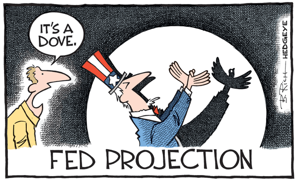 Fed Watch: Next Rate Hike In April 2018??? - Fed cartoon 06.17.2015 dove