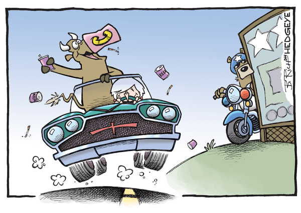 Cartoon of the Day: Sobriety Checkpoint Ahead - Yellen cart 06.07.2016