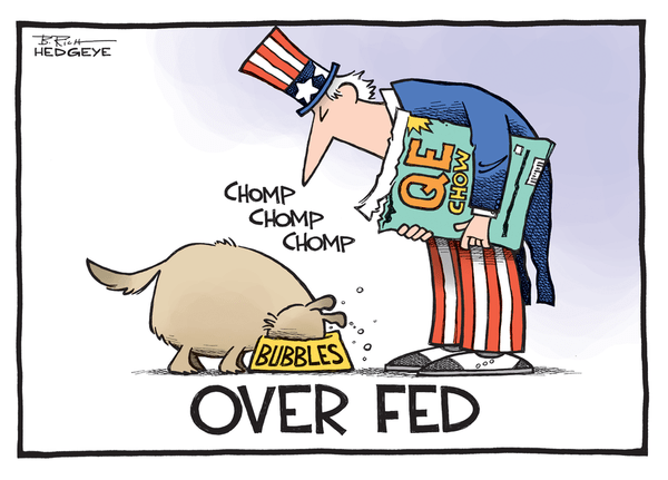 A Brief History Of The #CreditCycle via Hedgeye's Darius Dale - Fed cartoon 10.24.2014