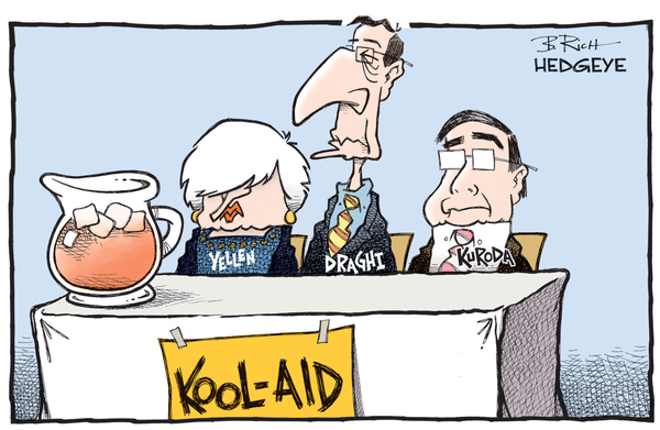 Cartoon of the Day: Drinking The Kool-Aid? - central bank kool aid 06.09.2016