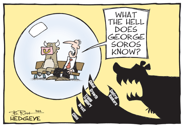 Cartoon of the Day: Living In A Bubble? - Soros cartoon 06.13.2016