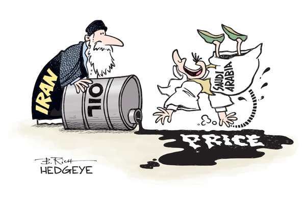 "Iran's Oil Production Is ""Confounding Experts and Beating Expectations"" – Incorrect - Iran.Saudi.oil cartoon 01.22.2016"