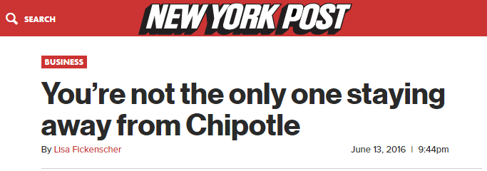 Chipotle Shares Have 35% Downside - nypost chipotle