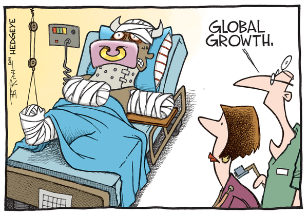 Dr. Copper's Diagnosis? Global #GrowthSlowing - global growth.sick bull cartoon 08.24.2015 large