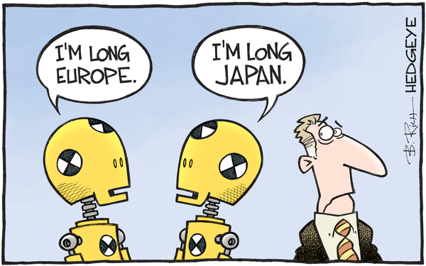 European Equities Still Stumbling, Brexit Or No Brexit - Europe Japan cartoon 04.04.2016
