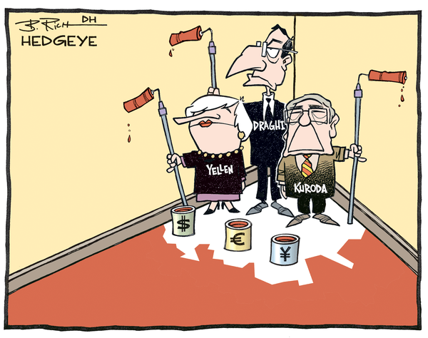 Tick-Tock. Currency Moves Show Lack of Faith In Central Planners - Central bankers in corner cartoon 04.20.2016