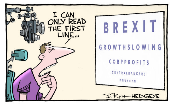 Fed Rate Hike Taken Behind the Barn and Shot - Brexit cartoon 06.20.2016