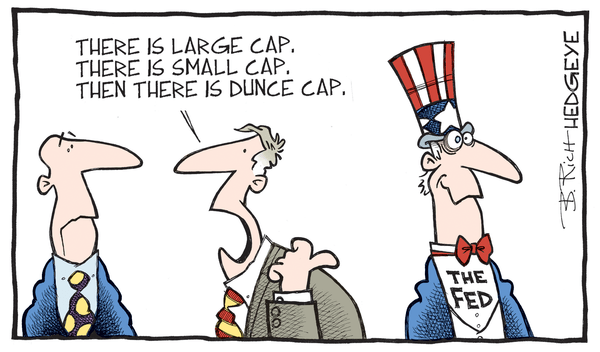The Folly of Fed Central Planning & Unintended Consequences - Fed dunce cap cartoon 12.23.2015