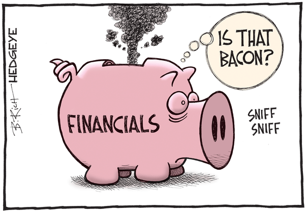 A Look At How Central Planners Are Crushing Banks - Financials cartoon May 2016