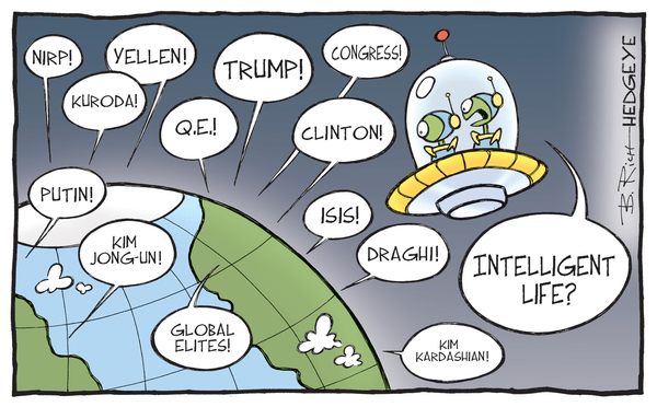 This Week In Hedgeye Cartoons - Intelligent life cartoon