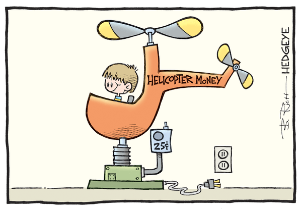 Cartoon of the Day: Going Nowhere - helicopter money cartoon 07.19.2016