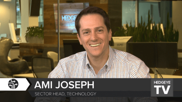 Technology Equity Research Veteran Ami Joseph Joins Hedgeye - Ami 7.19.16   Output 1 .mov.13 54 44 02.Still001