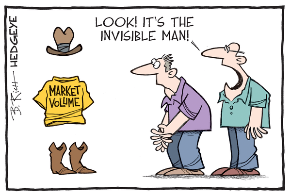 Cartoon of the Day: Vanishing - Market volume cartoon 07.22.2016