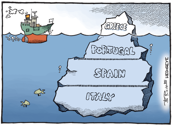 [From The Vault] Cartoon of the Day: Iceberg(s) - Greek iceberg cartoon 06.30.2015