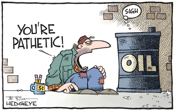 What's Next For Oil (As The Chart Chasing Pros Freak Out) - Oil cartoon 12.08.2015