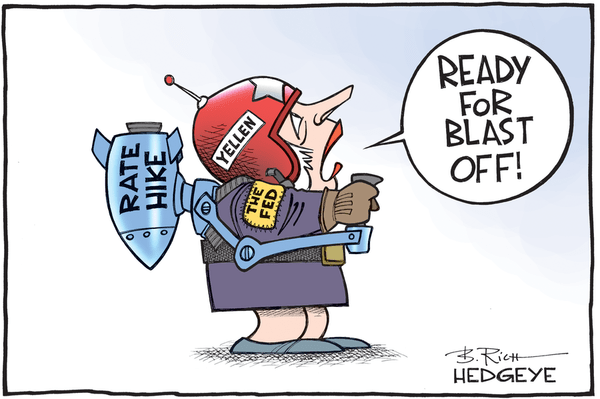 [From The Vault] Cartoon of the Day: Blast Off! - Rate hike cartoon 11.30.2015