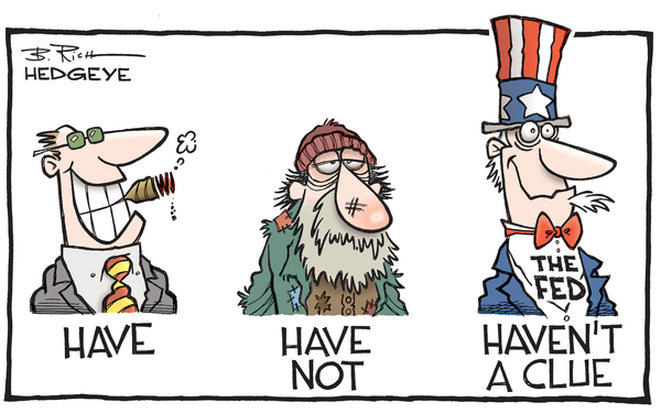 Fed Perpetuated Problem? Fed Study Finds Many Americans Have Negative Wealth - Fed  Haven t a clue  cartoon 07.13.2016